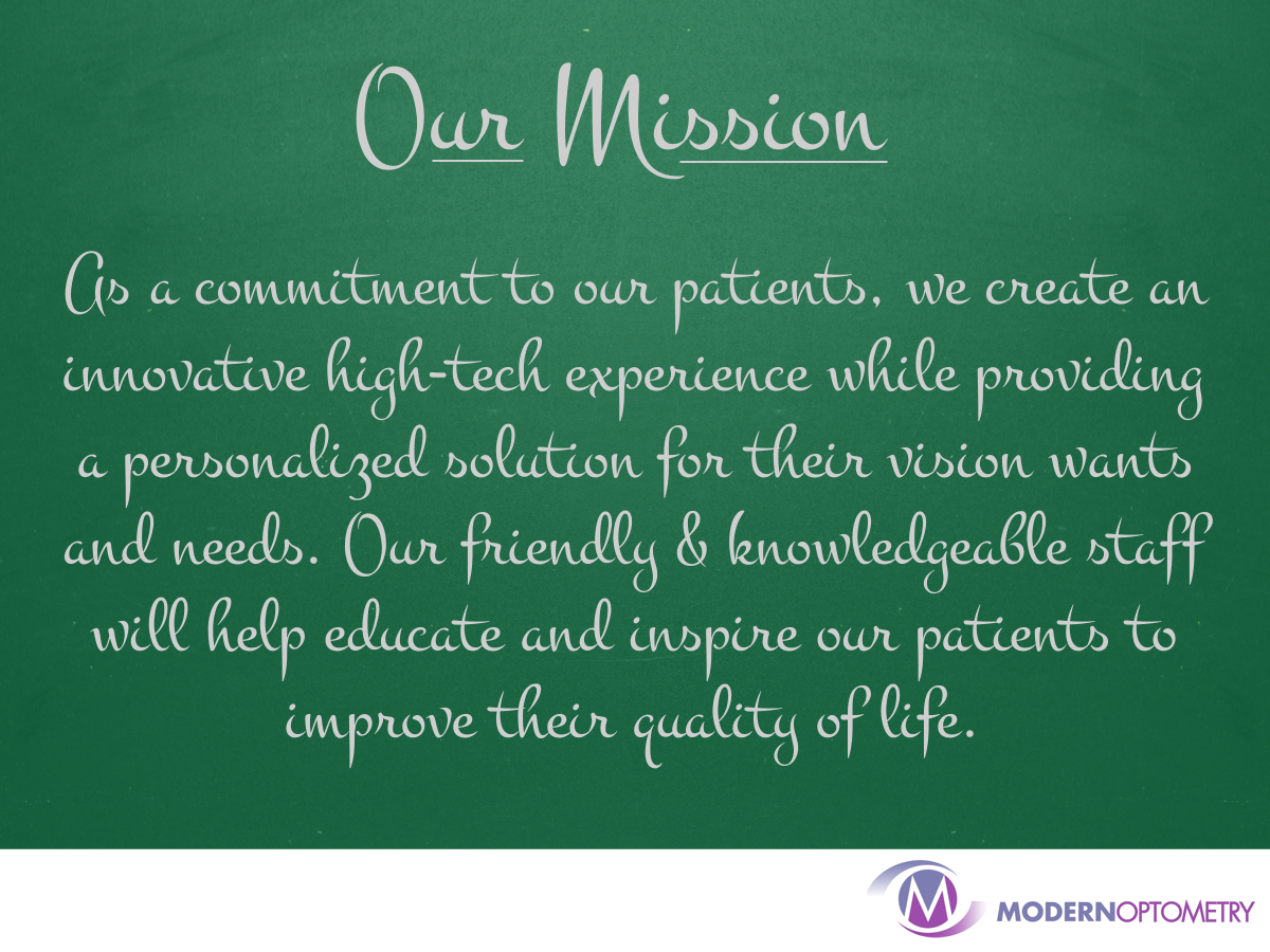 Modern Optometry's Mission